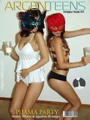 Muriel & Agustina in Pijama Party gallery from ARGEN-TEENS