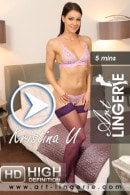 Kristina U video from ART-LINGERIE