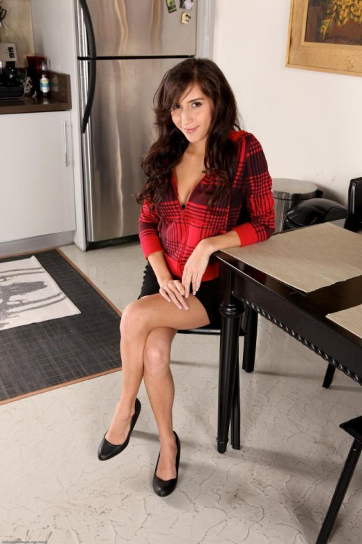 April O'Neil in masturbation gallery from ATKPETITES