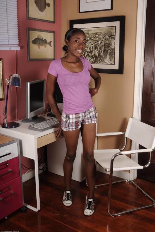 Maya in black women gallery from ATKPETITES