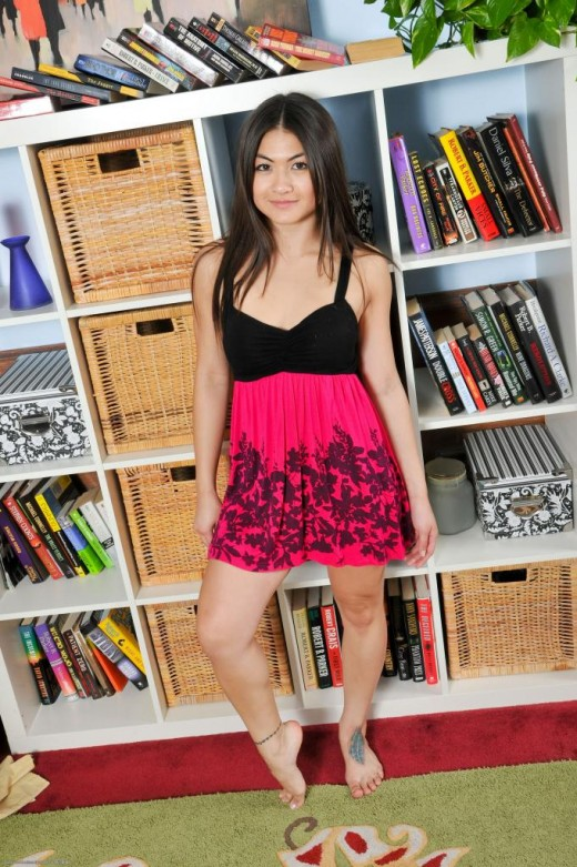 Mika Kim in footfetish gallery from ATKPETITES