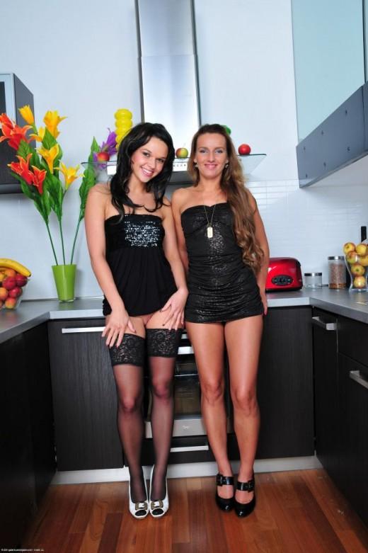 Frida & Megan Promesita in lesbian gallery from ATKPETITES