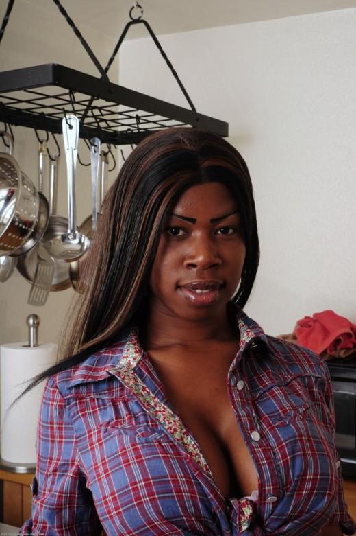Coco Ferrari in black women gallery from ATKPETITES