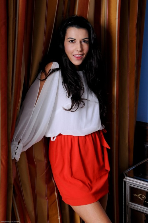 Lou Charmelle in upskirts and panties gallery from ATKPETITES