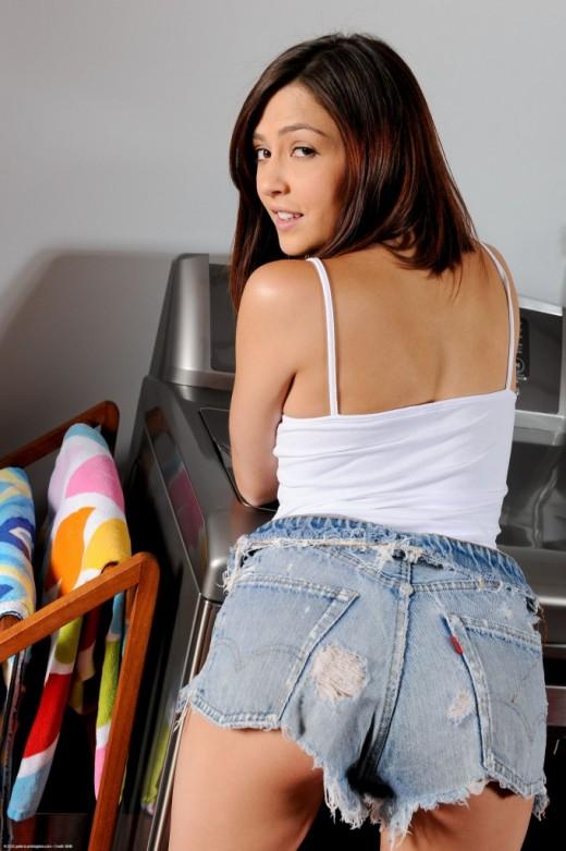 Cassie Laine in masturbation gallery from ATKPETITES