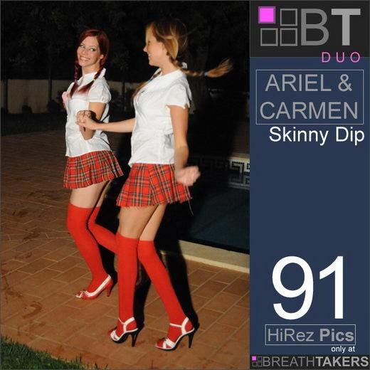 Ariel & Carmen in Skinny Dip gallery from BREATH-TAKERS ARCHIVES
