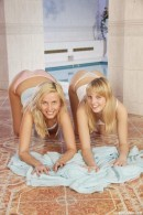 Chanel A & Becky in 2 hot blondes playing rock paper scissors video from CLUBSEVENTEEN