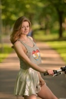 Cam Girl Merry Pie Riding Her Bike Without Panties gallery from CLUBSEVENTEEN