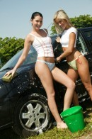 Josje B & Tiffany C in Two Naughty Carwash Babes gallery from CLUBSEVENTEEN