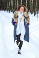 Lola F in Lola Showing Off Her Naked Body In The Snow gallery from CLUBSEVENTEEN
