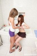 Lesbian Girlfriend In Bathtub Licking Pussy