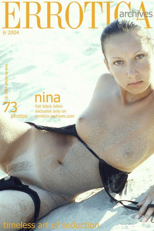 Nina in Hot Black Bikini gallery from ERROTICA-ARCHIVES by Erro