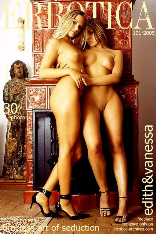Vanessa & Edith in Fireplace gallery from ERROTICA-ARCHIVES by Erro