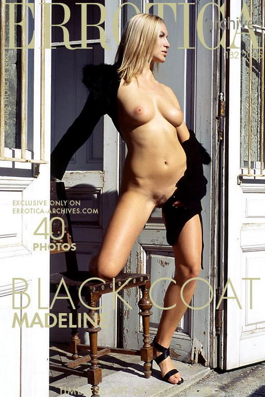 Madeline in Black Coat gallery from ERROTICA-ARCHIVES by Erro