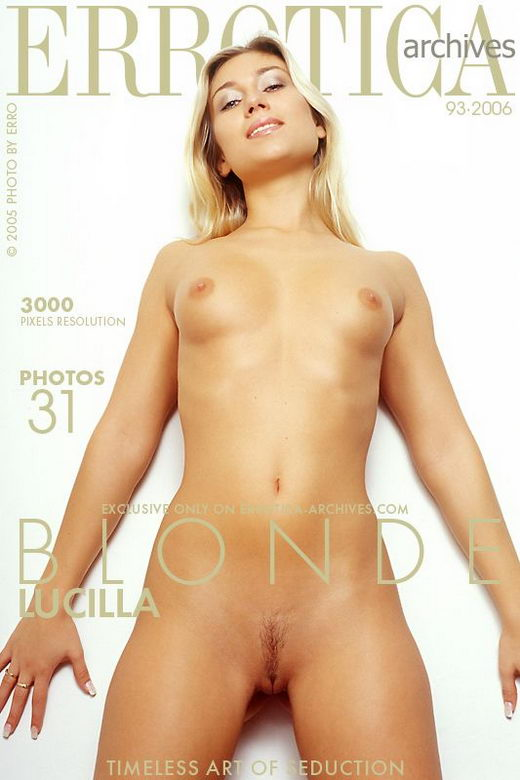 Lucilla in Blonde gallery from ERROTICA-ARCHIVES by Erro