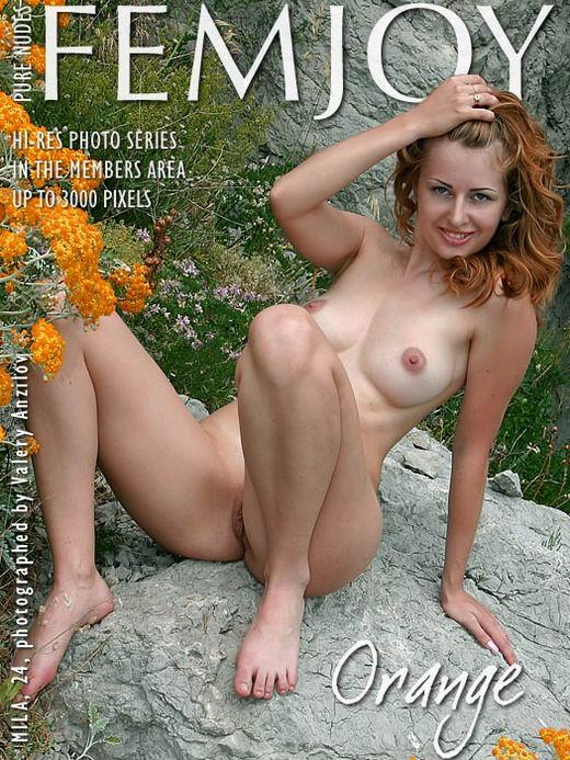 Mila in Orange gallery from FEMJOY ARCHIVES by Valery Anzilov