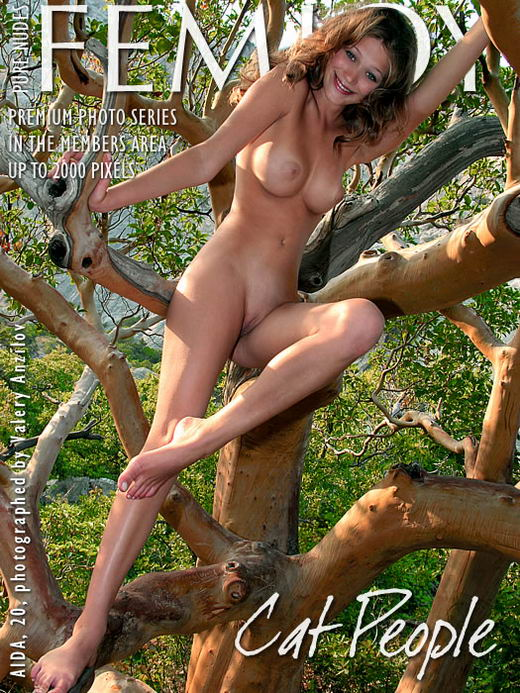 Aida in Cat People gallery from FEMJOY ARCHIVES by Valery Anzilov