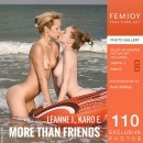 Karo E & Leanne J in More Than Friends gallery from FEMJOY by Sven Wildhan