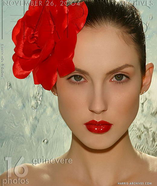 Guinevere in Red Flower gallery from HARRIS-ARCHIVES by Ron Harris
