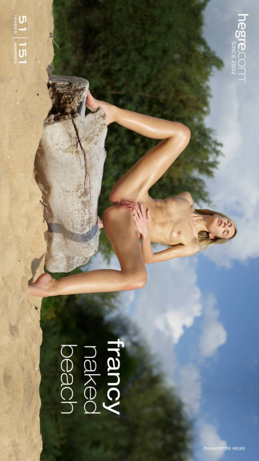 Francy in Naked Beach gallery from HEGRE-ART by Petter Hegre