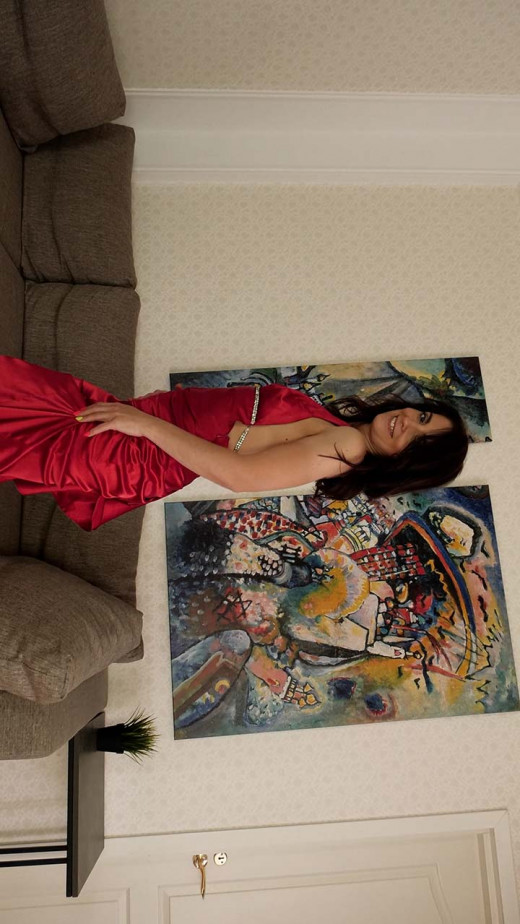 Mary Matte in Red Dress Strip video from KARUPSPC