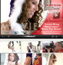 Lizzie Ryan in Blue Xmas Pinup - Bts video from LIZZIE-SECRET by Willian Larsson