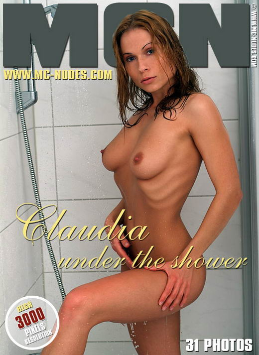 Claudia in Under The Shower gallery from MC-NUDES
