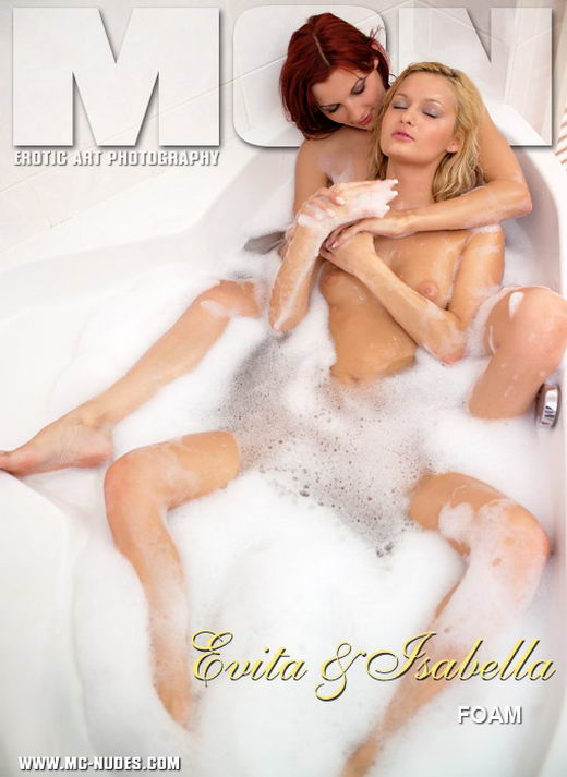 Evita & Isabella in Foam gallery from MC-NUDES