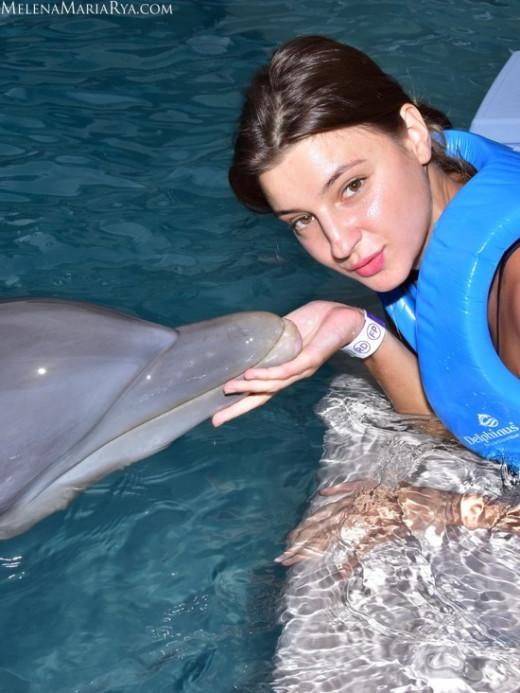 Melena Maria Rya in Kisses With Dolphins gallery from MELENA MARIA RYA