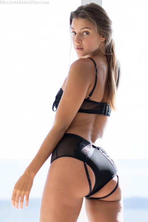 Melena Maria Rya in Sexy In Black gallery from MELENA MARIA RYA