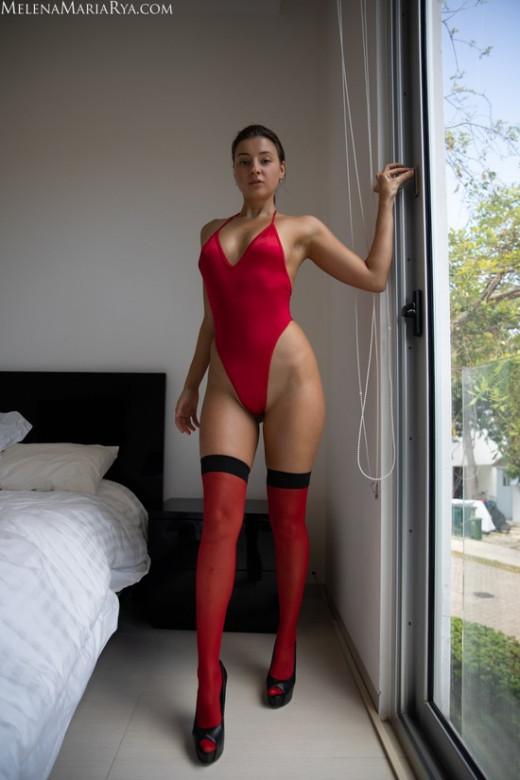 Melena Maria Rya in Lady In Red gallery from MELENA MARIA RYA