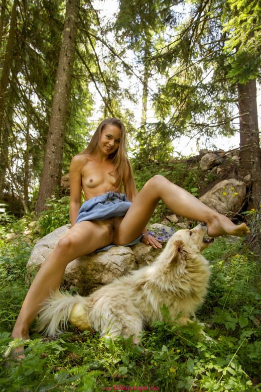 Milena Angel in White Forest Spirit gallery from MILENA ANGEL by Erik Latika