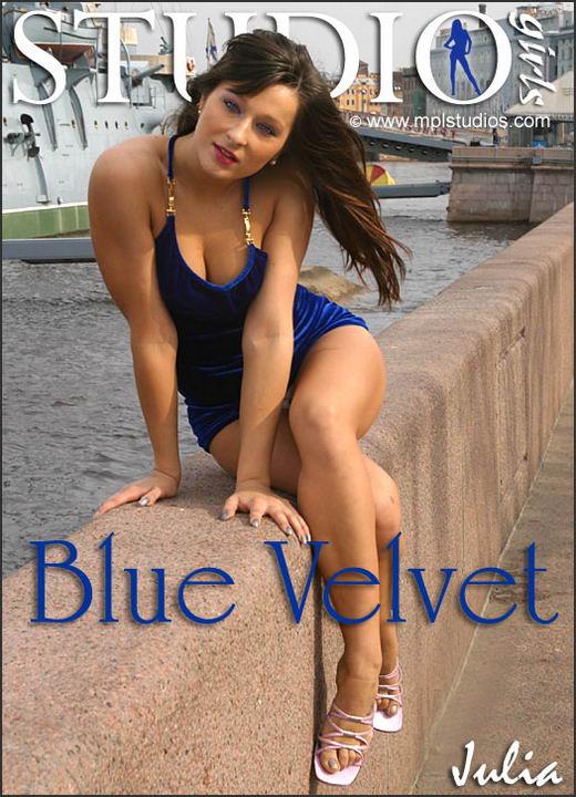 Julia in Blue Velvet gallery from MPLSTUDIOS by Alexander Fedorov