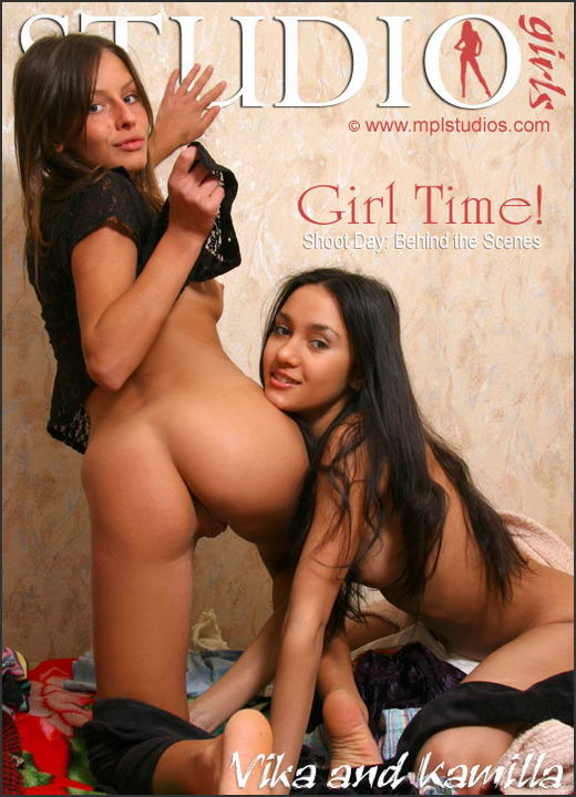 Vika And Kamilla in Behind The Scenes: Girl Time gallery from MPLSTUDIOS by Alexander Fedorov