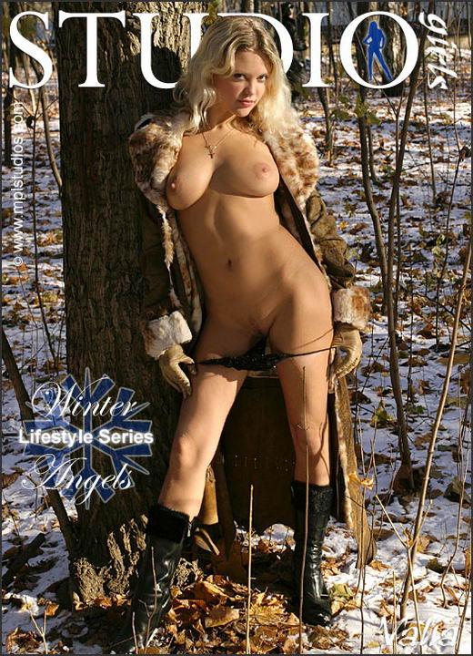 Valia in Winter Angels gallery from MPLSTUDIOS by Alexander Lobanov