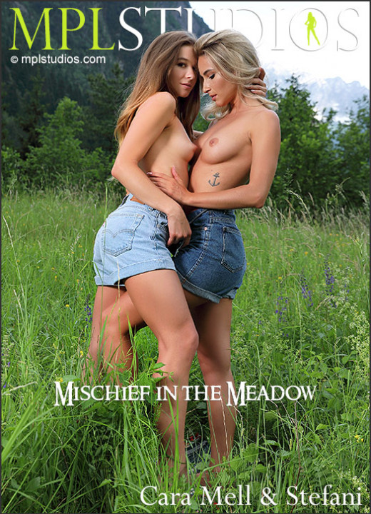 Cara Mell & Stefani in Mischief In The Meadow gallery from MPLSTUDIOS by Thierry