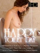 Louisa A in Happy Toilet Day video from MY NAKED DOLLS by Tony Murano
