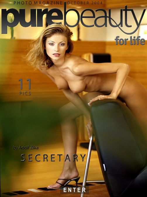 Denisa H in Secretary gallery from PUREBEAUTY by Adolf Zika