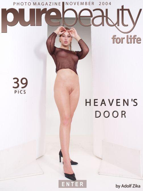 Eva M in Heaven's Door gallery from PUREBEAUTY by Adolf Zika