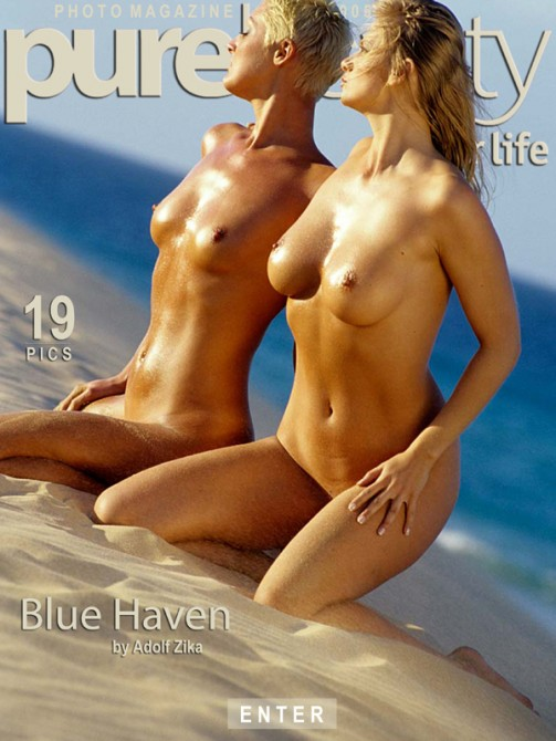 Vilma & Martina in Blue Haven gallery from PUREBEAUTY by Adolf Zika