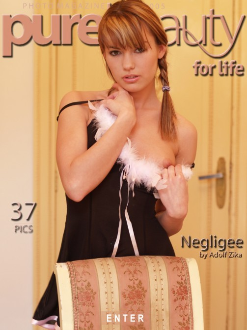 Veronika F in Negligee gallery from PUREBEAUTY by Adolf Zika