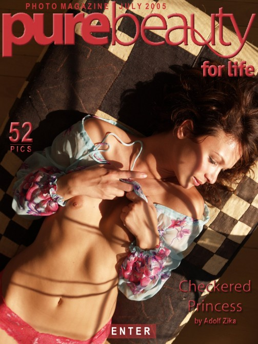 Denisa in Checkered Princess gallery from PUREBEAUTY by Adolf Zika