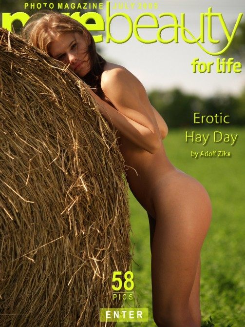 Michaela V in Erotic Hay Day gallery from PUREBEAUTY by Adolf Zika