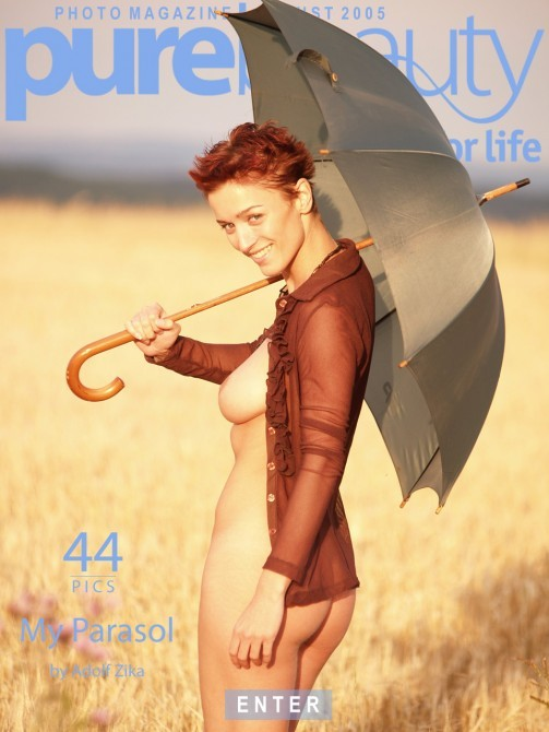 Katka P in My Parasol gallery from PUREBEAUTY by Adolf Zika