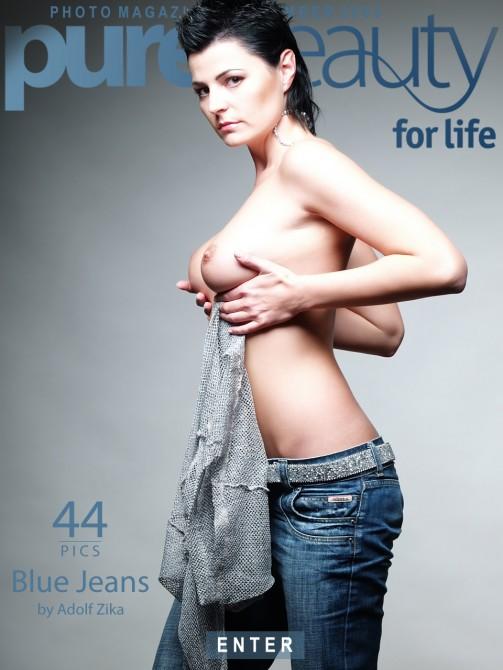 Avi Ivariova in Blue Jeans gallery from PUREBEAUTY by Adolf Zika