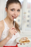 Mila Azul Is Ready To Give You Dessert In The Kitchen gallery from TEENDREAMS