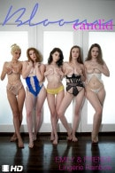 Emily Bloom & Kawaiii Kitten & HopelessSoFrantic & Abigale & Miss Mary Moody in Lingerie Rainbow video from THEEMILYBLOOM