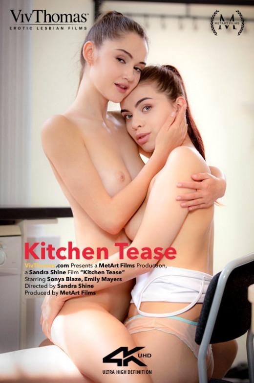 Emily Mayers & Sonya Blaze in Kitchen Tease video from VIVTHOMAS VIDEO by Sandra Shine