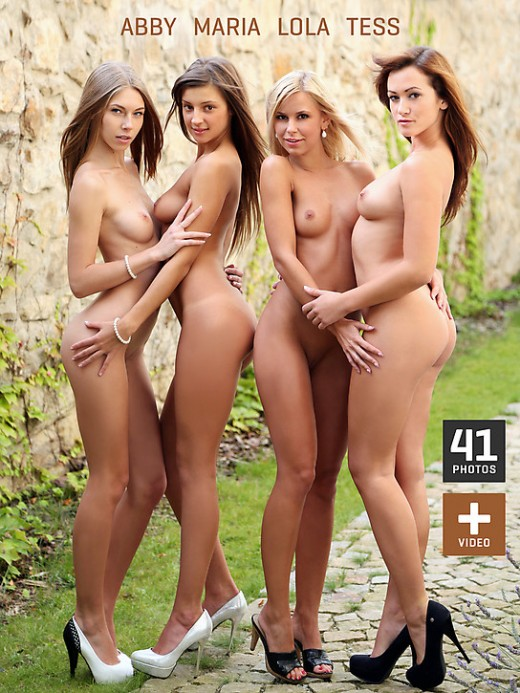 Abby & Maria & Lola & Tess in Quartet gallery from WATCH4BEAUTY by Mark