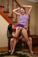 Malika & Lora in hairy lesbians gallery from ATKPETITES - #8